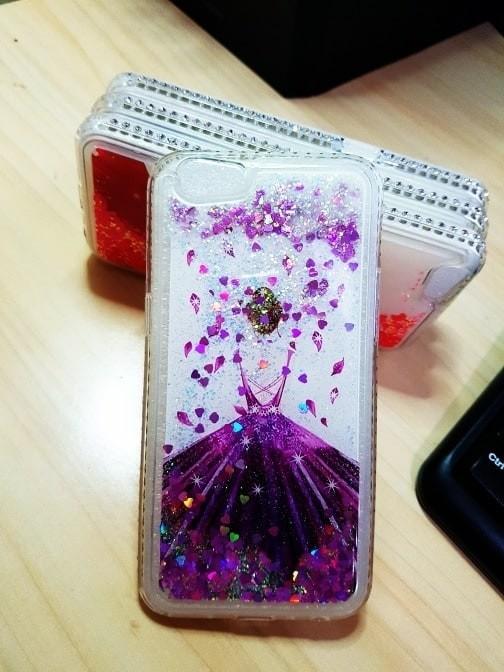 harga Case liquid glitter oppo f1s dress list diamond - dress ungu Tokopedia.com