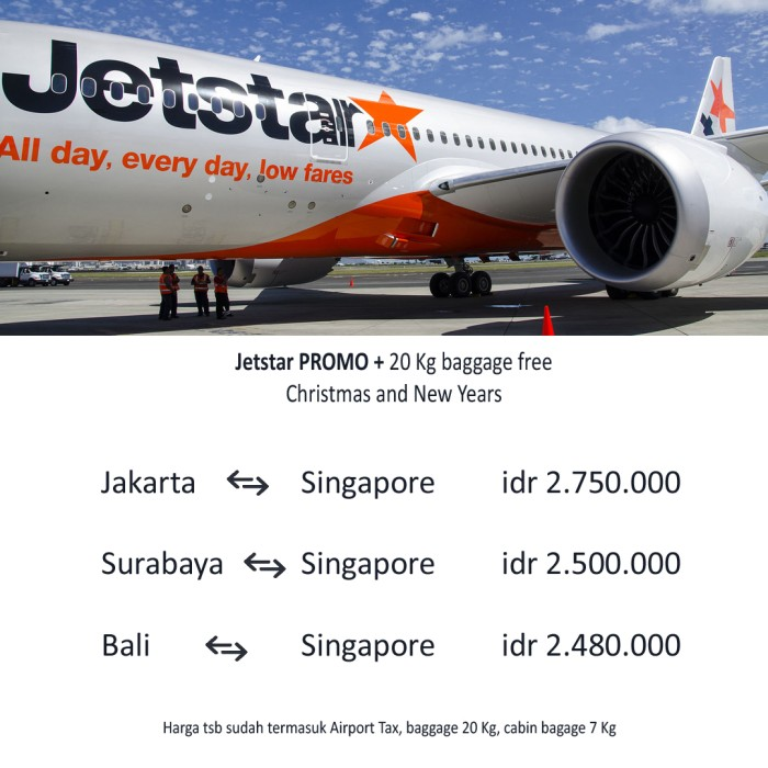 Jual Promo Tiket Pesawat Jetstar Ke Singapur Murah Natal Dan Tahun