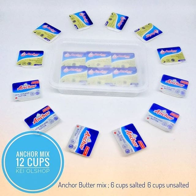 harga Anchor butter 12 cup mix (6 cup salted, 6 cup unsalted) Tokopedia.com