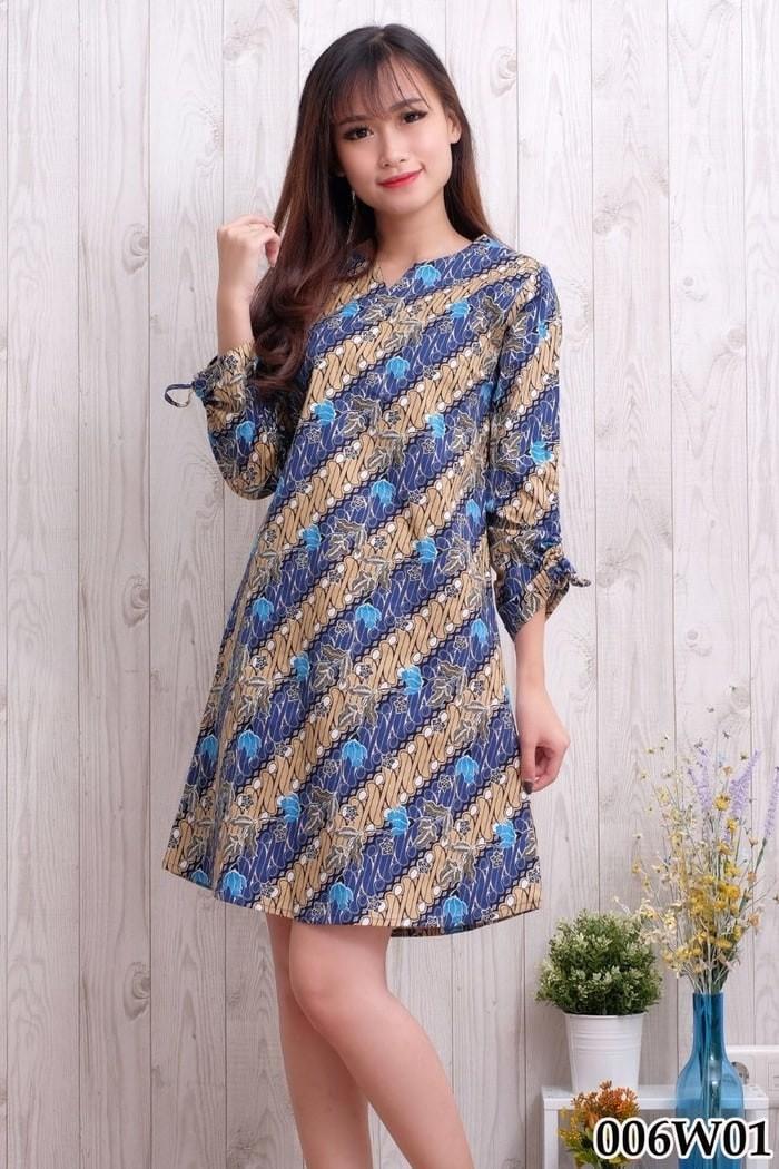 Jual Baju Dress Batik Wanita Modern Batik Wanita Dress Lengan c7a14a4344