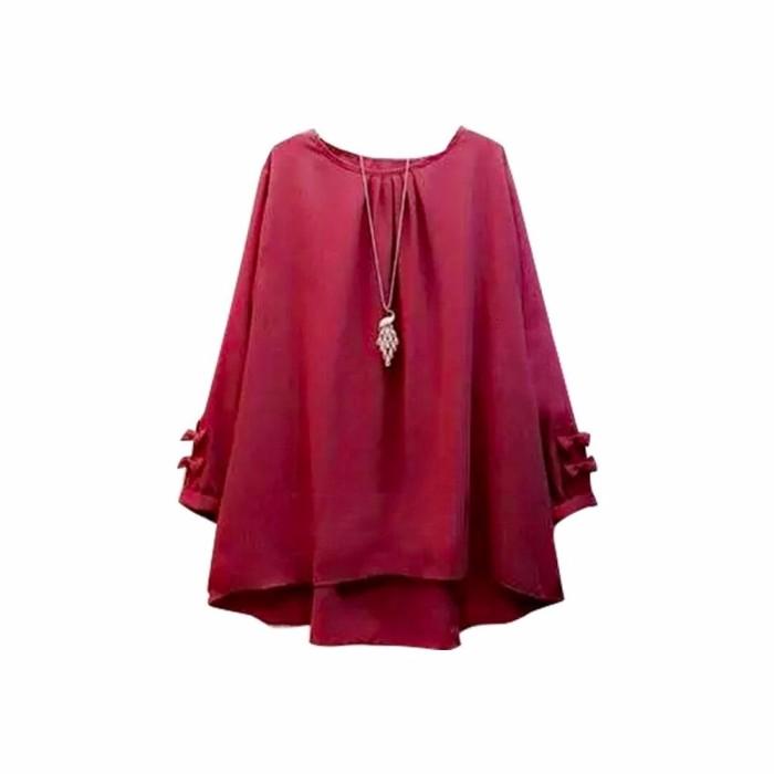 Erkud top baju atasan murah baju muslim blouse pakaian wanita Terlar