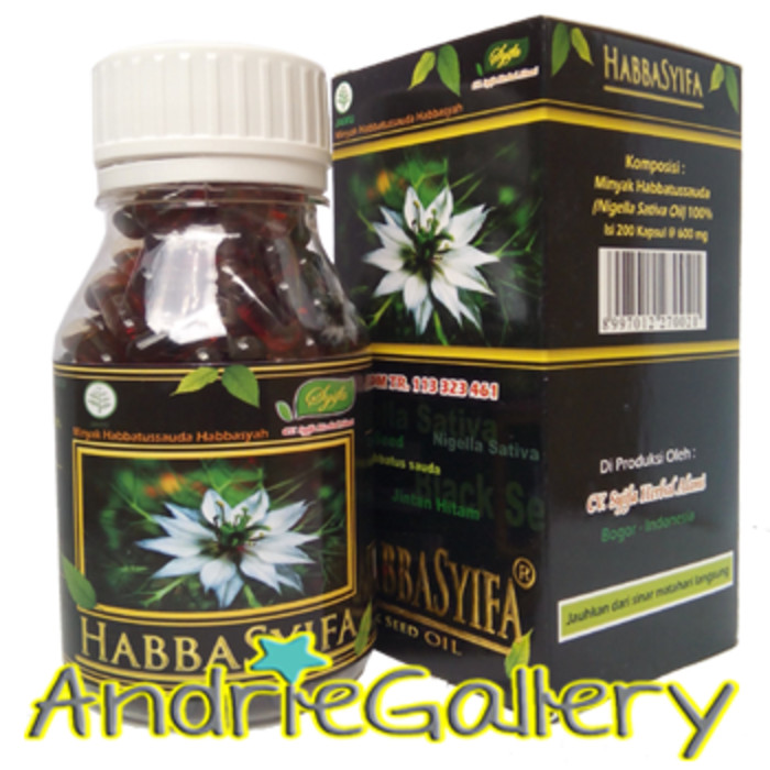 HABBASYIFA HABBATUSSAUDA CAIR ISI 200 KAPS obat asli original termurah
