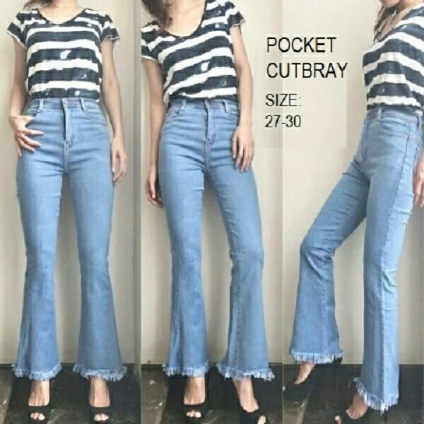 Jual Celana Pocket Cutbray Muda Celana Jeans Wanita Kekinian Murah Jakarta Pusat Alamcoyen Goodfather Tokopedia