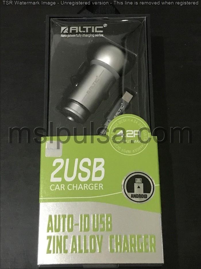 harga Charger mobil altic samsung/iphone/asus/oppo/xiaomi  2 usb 4.2a c401 Tokopedia.com