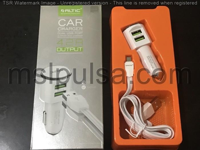 harga Charger mobil altic samsung/iphone/asus/oppo/xiaomi  2 usb 4.2a c29 Tokopedia.com
