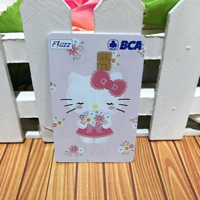 harga Flazz bca card custom gambar print cetak hello kitty Tokopedia.com