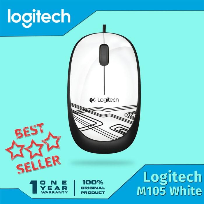 ... harga Logitech mouse m105 usb / mouse kabel m 105 original Tokopedia.com