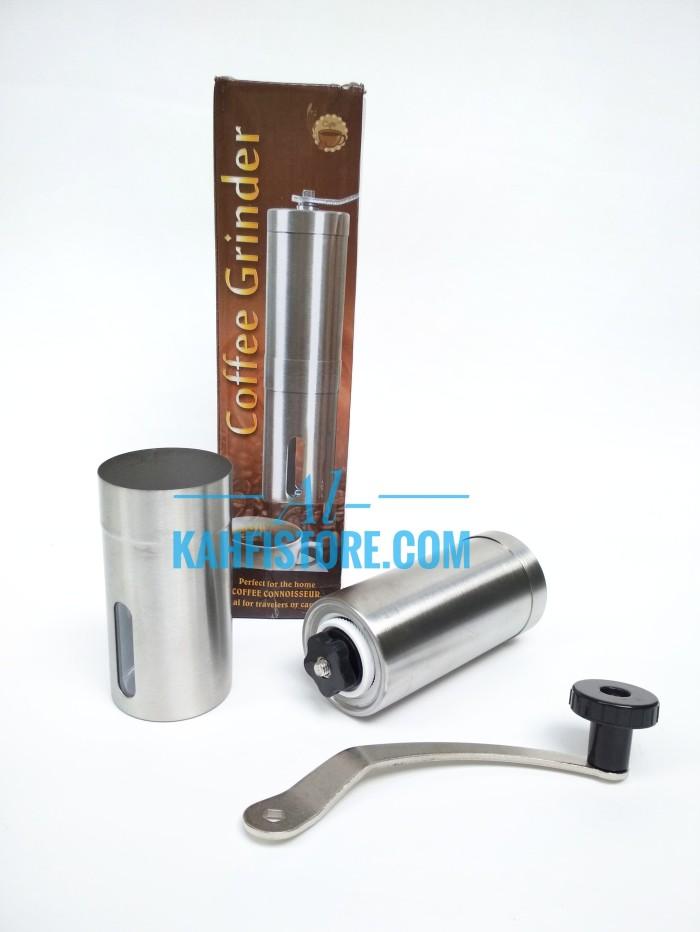 harga Gilingan kopi manual   mesin kopi manual coffee grinder stainless Tokopedia.com