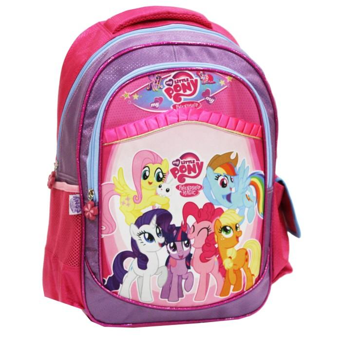 Tas Anak Sekolah Ransel SD Little Pony Renda Ukuran Besar - Pink