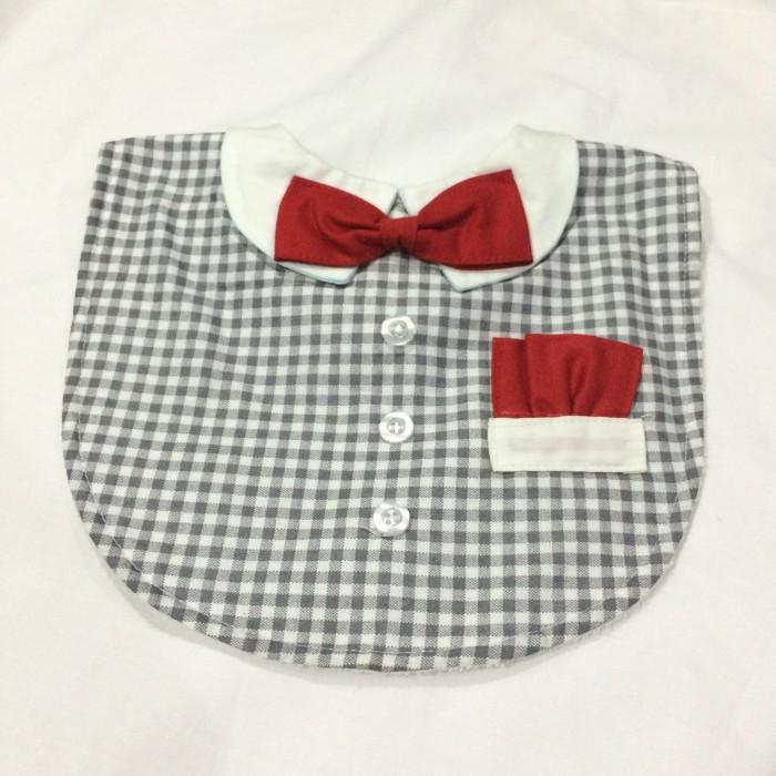 Foto Produk Slabber Baby / Celemek Bayi (tux shirt n pocket - grey) dari Cutle Bib