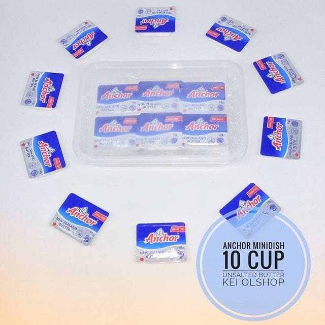 harga Anchor unsalted butter mini portion 10 cup Tokopedia.com