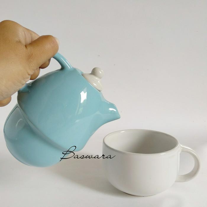 harga Teko cangkir susun tumpuk unik cantik teacup teapot teaset teko set Tokopedia.com
