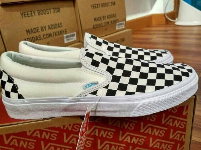 c1096c5e9b Jual sepatu VANS VAULT OG CLASSIC SLIP-ON LX CHECKERBOARD BLACK ...