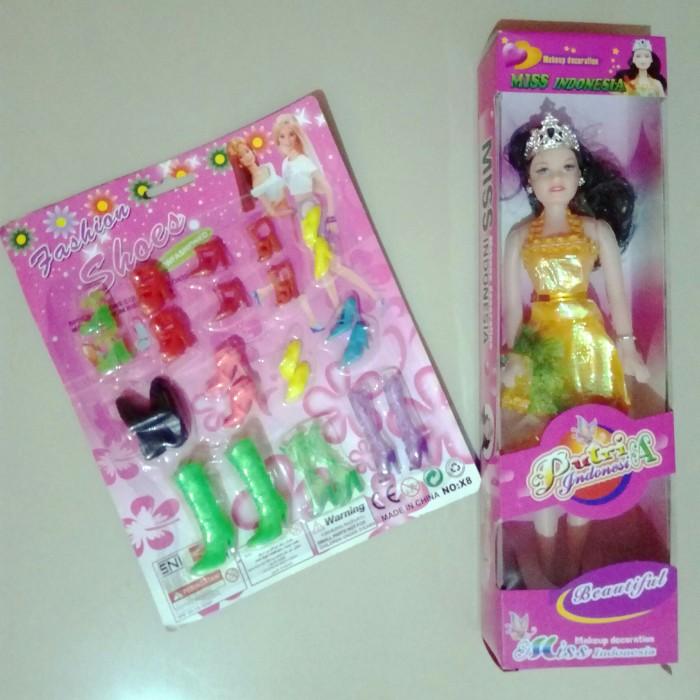 Boneka barbie cantik miss indonesia dan new fashion shoes decoration d3464ba856