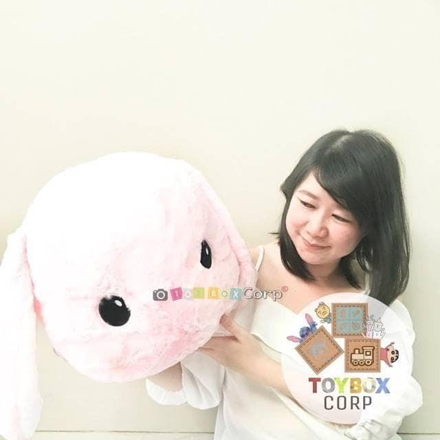harga Boneka kelinci kepala berbulu / fur head rabbit pink Tokopedia.com