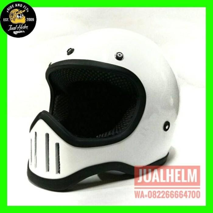 harga Helm custom/helm simpson/helm m50 putih glossy list karet Tokopedia.com