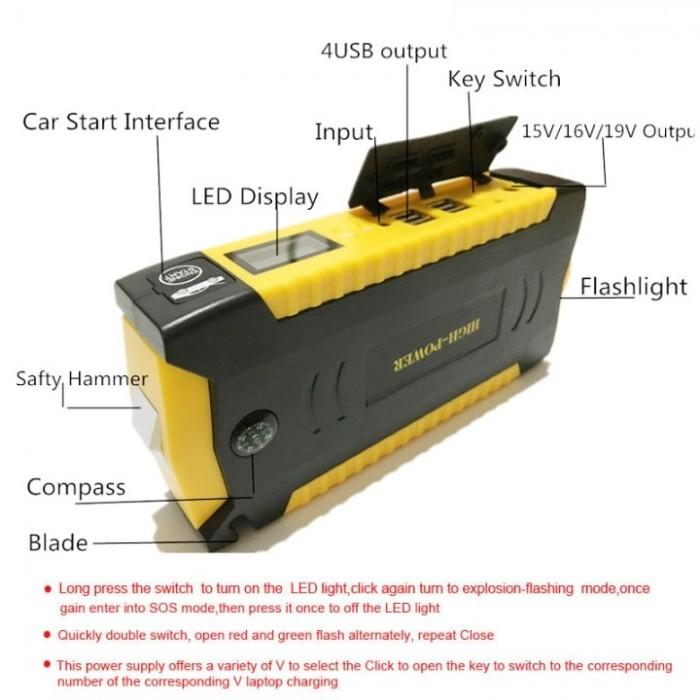 harga Multifunction portable vehicle powerbank (powerbank jumper mobil) Tokopedia.com
