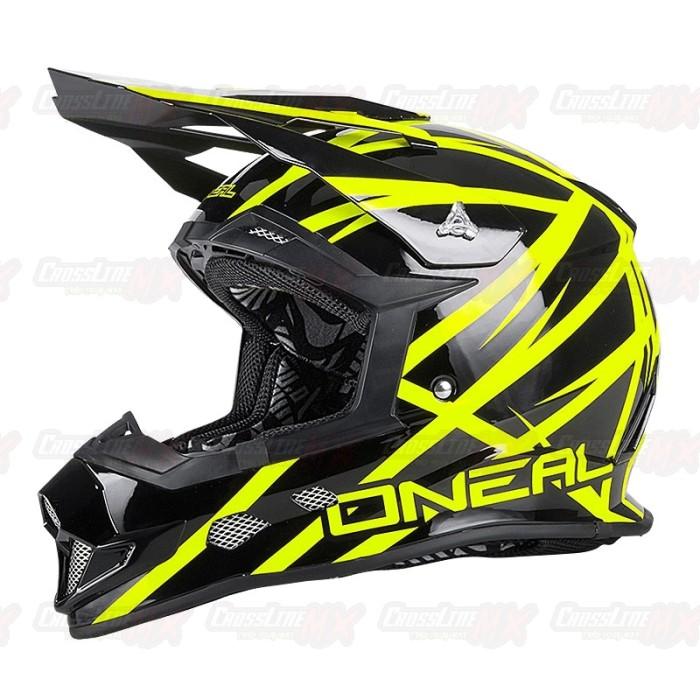 Helm Cross Oneal 2 Series THUNDERSTRUCK Black Neon Yellow / HELMET O'N 3