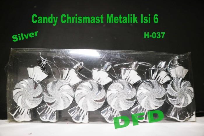 harga Aksesoris pohon natal / candy chrismast metalik isi 6 silver Tokopedia.com