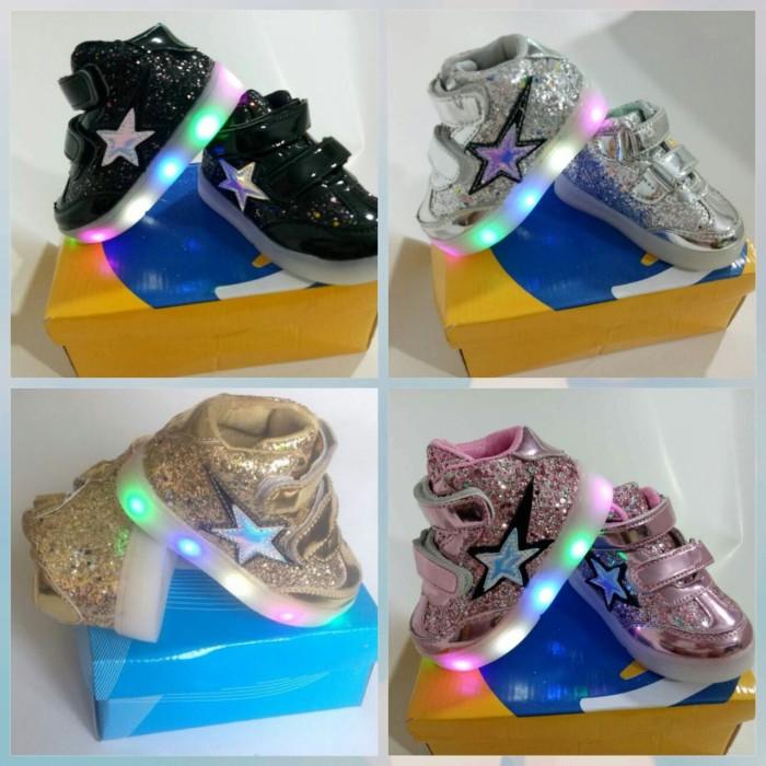 SEPATU NORITA BABYSHOP Source · Sepatu Anak Star Fashion Import Murah Lampu  LED 6067720505
