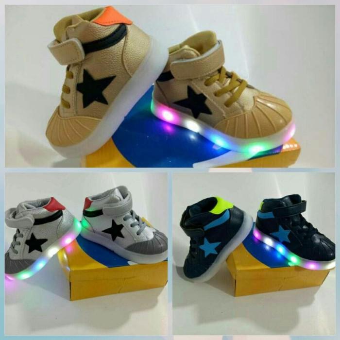 harga Sepatu anak booth star converse boy import murah lampu led Tokopedia.com