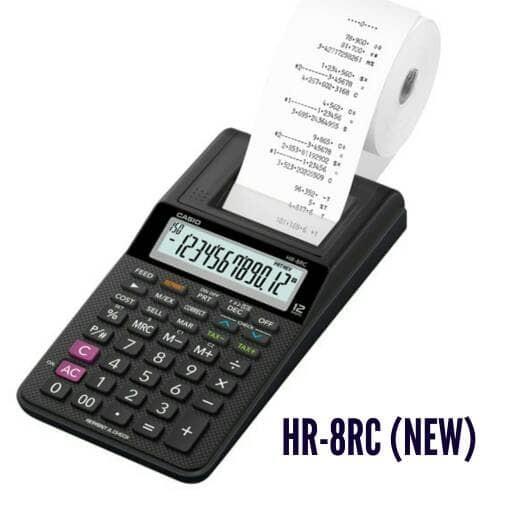 harga Paket casio hr-8 rc + kertas + tinta - kalkulator/calculator print 8rc Tokopedia.com