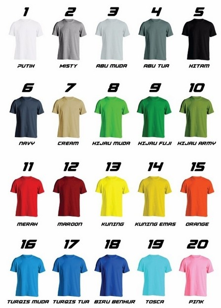harga Baju anak unisex - kaos polos size 3 - cotton combed 20s Tokopedia.com