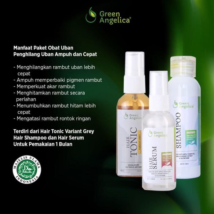 Foto Produk Paket Penghitam Dan Penumbuh Rambut Alami Green Angelica dari Green Angelica OS