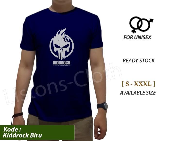 harga Kaos distro kiddrock kidd rock biru navy tshirt branded pria baju Tokopedia.com