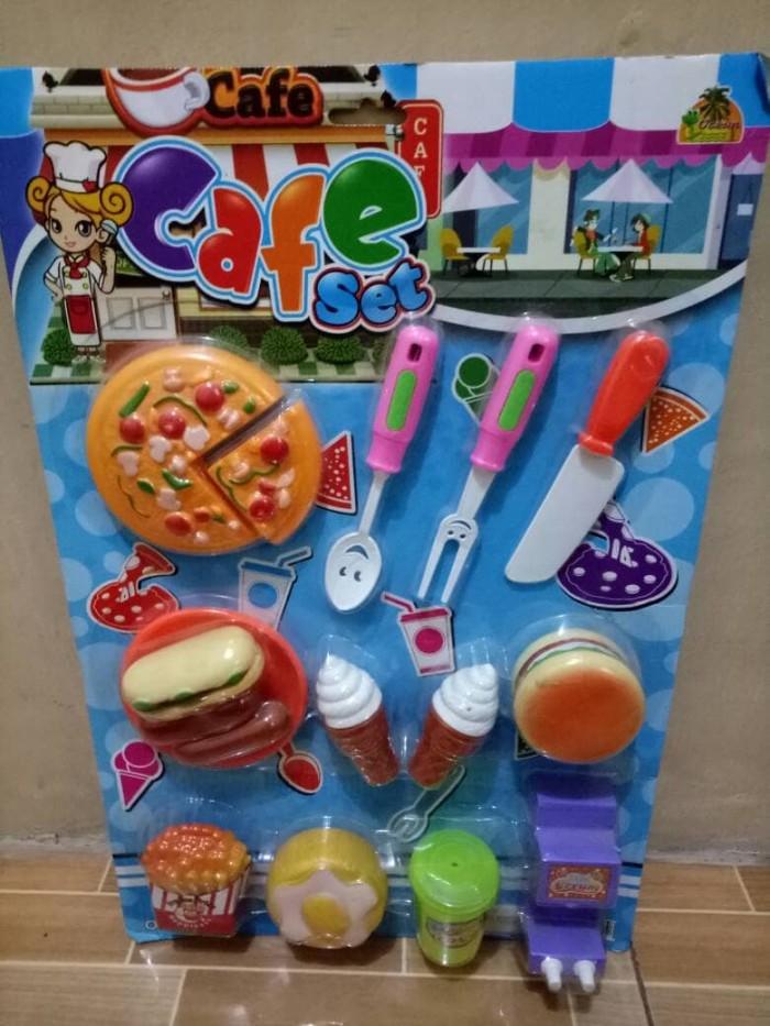 Jual Mainan Cafe Set Pizza Burger Dll Kab Karawang Dunia Mainan Murmer Tokopedia