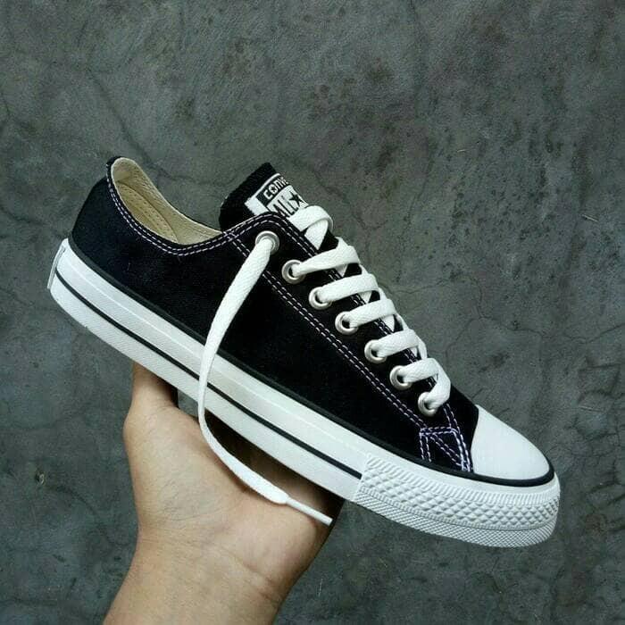 ... harga Sepatu converse allstar made in vietnam sneakers cewek cowok  hitam Tokopedia.com bbb387f667