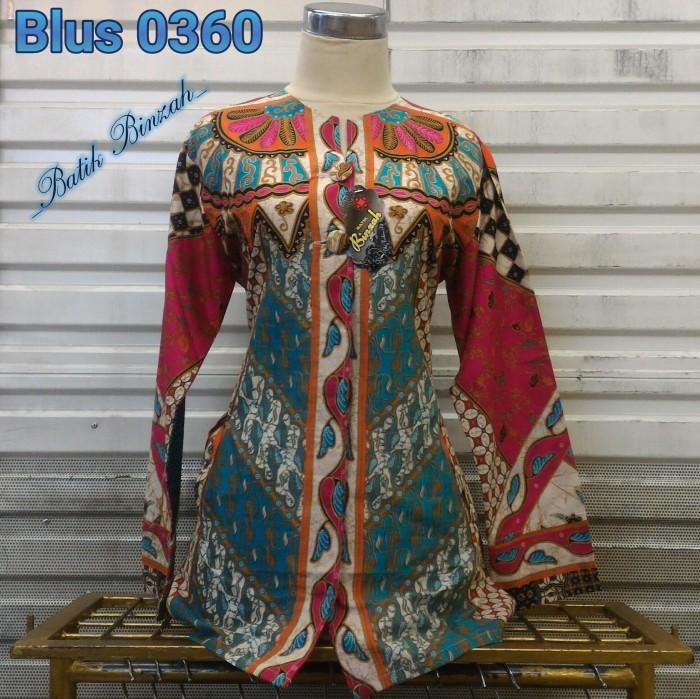 harga Blus lengan panjang batik binzah kode 0360 Tokopedia.com