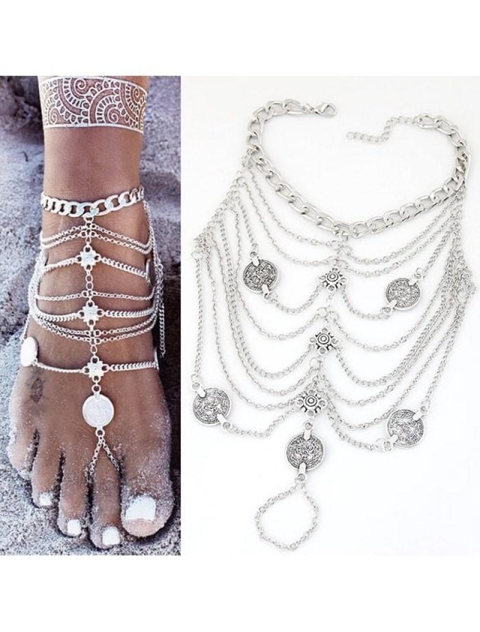 harga Gelang kaki silver india retro anklet murah - 10.36 Tokopedia.com