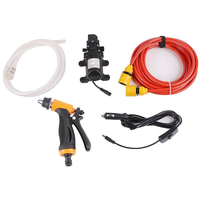 harga Paket pompa air cuci mobil 12v 65w + kepala semprotan + selang + plug Tokopedia.com