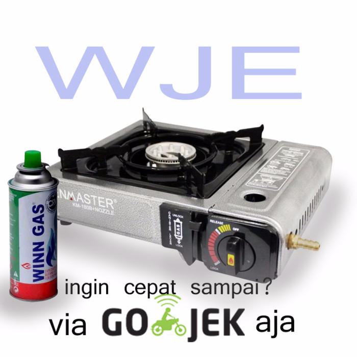 harga Paket kenmaster  kompor portable + 1 gas kaleng hi-cook bisa gosend Tokopedia.com