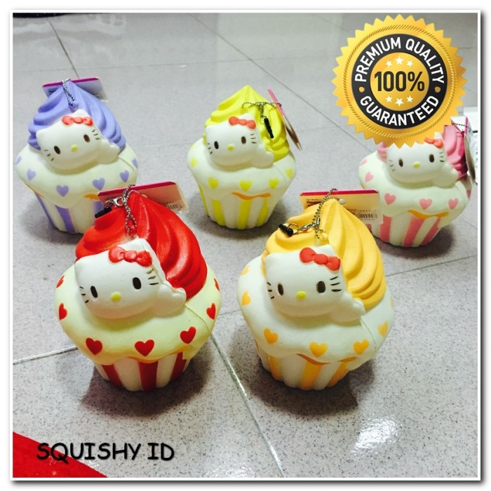 Squishy Jumbo Hello Kitty Cupcake HK Squihsy Murah Promo