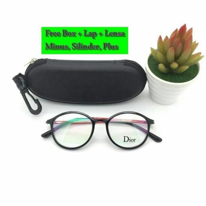 Jual ASLI MURAH Bonus Lensa Minus Silinder Plus Frame Kacamata Dior ... e78667d3f7