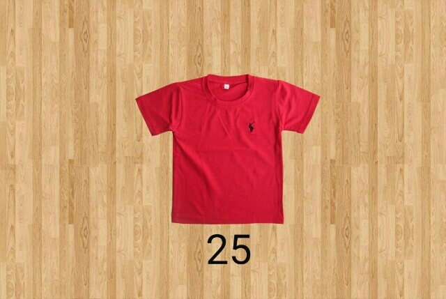 Kaos oblong anak polos / t-shirt anak / basic tee size 1 2 3