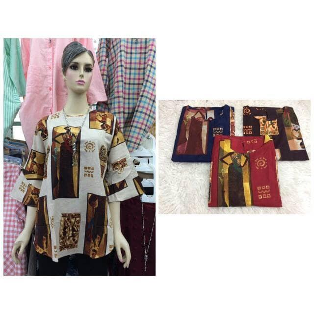 harga Cllaire baju tunik blus gamis batik pendek grosir Tokopedia.com