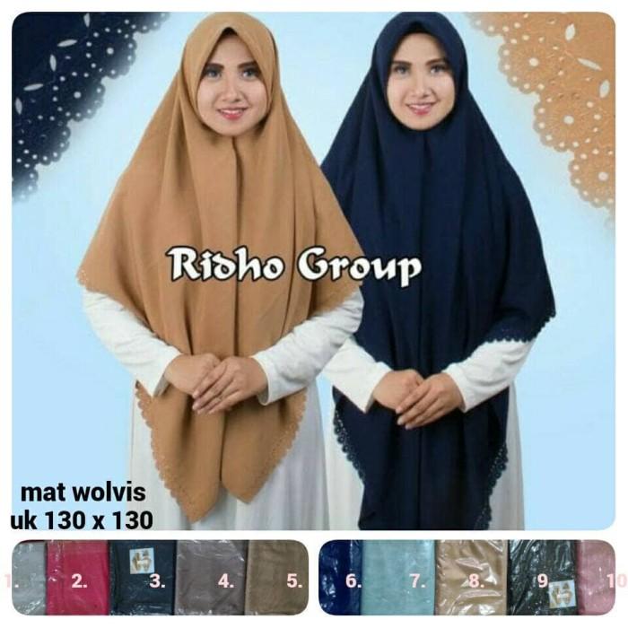 ... harga Segi empat wolfis polos. segi4 kerudung laser. jilbab s4 hijab syari Tokopedia.
