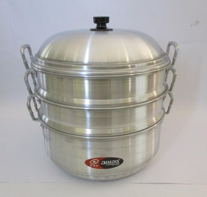 Maspion djawa langseng steamer 40cm susun 3 aluminium panci kukus