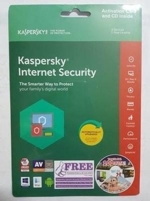 harga Kaspersky internet security 3 user 2018 Tokopedia.com