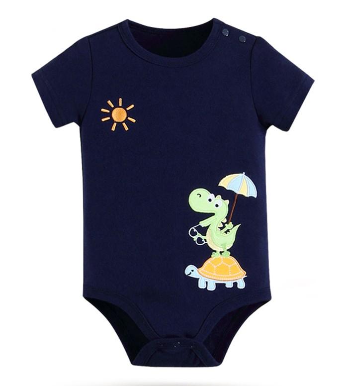 harga Baju bayi 6 bulan -  mom n bab jumper dino turtle 6m Tokopedia.com
