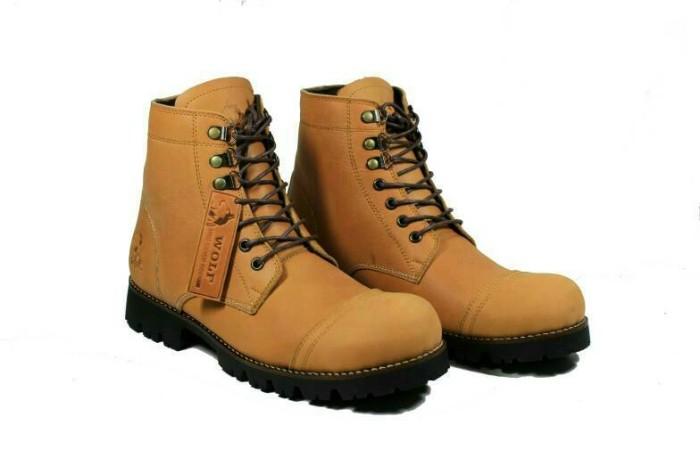 Wolf Pitbul Sepatu Safety Pria Kulit Brown - Daftar Harga Terbaru ... 5f2ccc71d5
