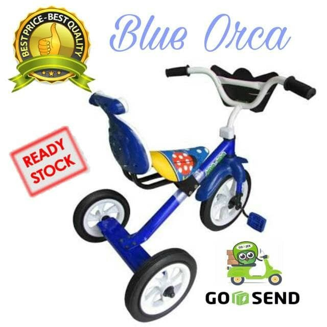 harga Sepeda bmx roda tiga anak tricycle sandaran yoe yoe warna biru Tokopedia.com
