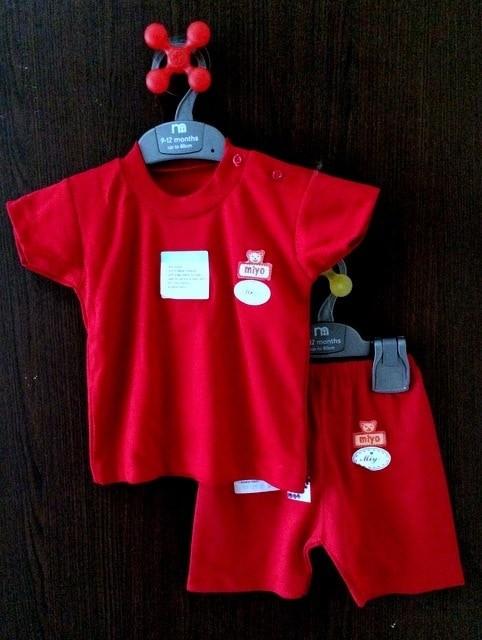 Miyo Red Setelan Oblong Pendek Celana Pendek Size S M L Terbaru