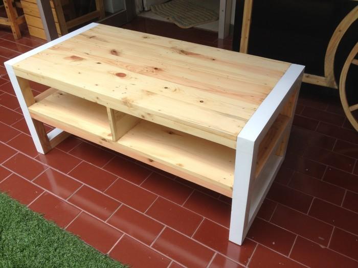 Jual Meja Tamu Ruang Keluarga Full Kayu Pinus Solid Kota