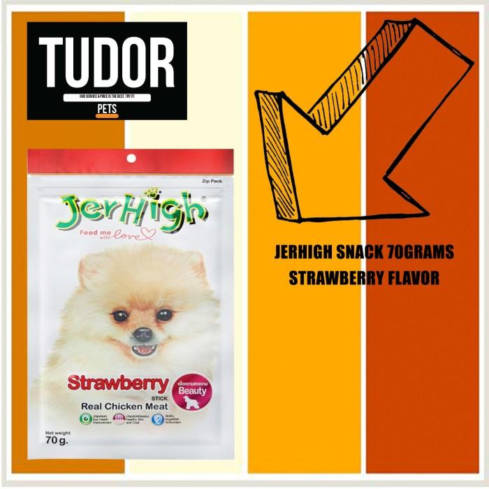 Jerhigh stick dog snack strawberry 70 grams