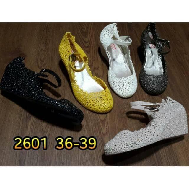 Jelly shoes sepatu wanita karet import bara bara 2601
