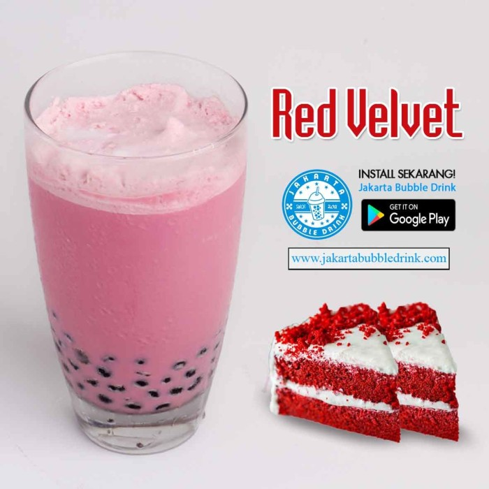 harga Red Velvet Powder - Bubuk Minuman Bubble Drink Cappucino Cincau Tokopedia.com